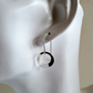 Hoop Earrings sterling silver handmade Designer jewelry hook