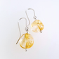 Citrine Gemstone Earrings sterling silver handmade jewellery UK big nugget beads