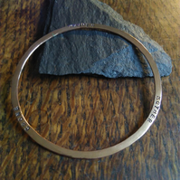 Maiden, Mother and Crone copper bracelet
