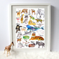 A-Z Alphabet Animal Art Print