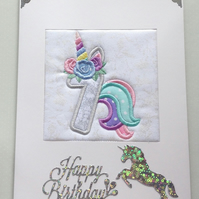 Unicorn Age 7 Card