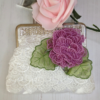 Lace & Flowers Frame Bag