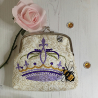 Queen Bee Frame Clutch Bag