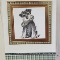 Schnauzer Greeting Card, dog greeting card