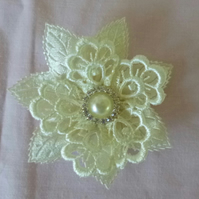 Lace Flower Brooch