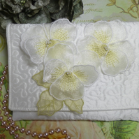 Pansy Silk Clutch Bag