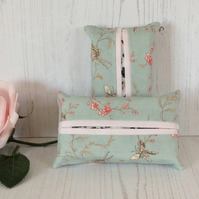 Aqua and Butterflies Tissue Holder