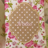 Rose Notebook (Pink Roses)