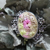 Hand Embroidered Pendant (Design 2)