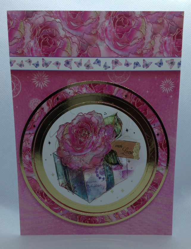 Rose and Gift Card
