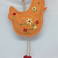 Chicken Hanging Decoration (Red Feet)