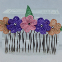 Lace Hair Comb (Design 3)