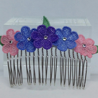 Lace Hair Comb (Design 4)