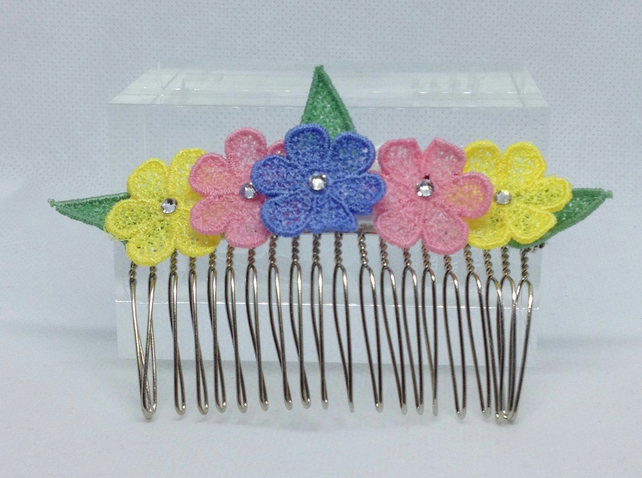 Lace Hair Comb (Design 5)