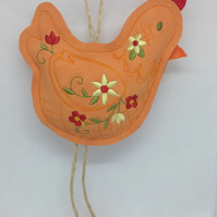 Chicken Hanging Decoration (Orange feet)