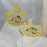 Lemon topper hand towel