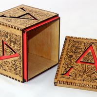 Unique 'Initial' box - engraved with initial cutout - personalised!