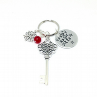 Santa's Magic Key - handmade christmas decoration