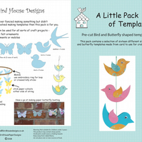 Bird and Butterfly Templates