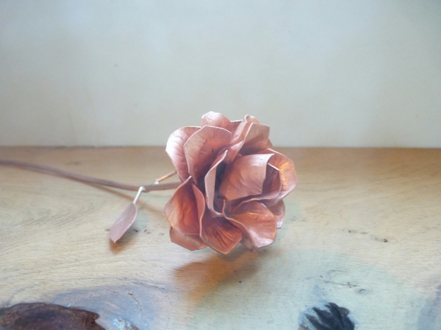 Copper rose love token