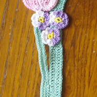 TULIP BOOKMARK - BEAUTIFUL CROCHET COTTON DESIGN