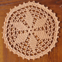 GOLD STAR MAT 16cm - DAINTY LITTLE DOILY WITH PICOT EDGING