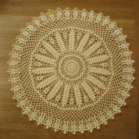 LARGE - 51cm -  YELLOW TABLE CENTREPIECE, MAT or DOILY - 'CORN EARS' PATTERN!