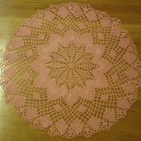 LARGE - 58cm - DARK PINK TABLE CENTREPIECE, MAT or DOILY - LOVELY PATTERN!