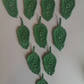 DARK GREEN LEAVES - 6cm - EMBELLISHMENTS, CARDS, CRAFTS,  SCRAPBOOKING ??