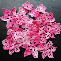LOVELY PACK OF 20 PINK & MULTI FLOWER MIX - HAVE A LOOK - FOR CARDS & CRAFTS