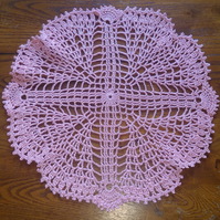ROSE PINK - LOVELY DECORATION FOR YOUR TABLE - 26cm - PICOT EDGING