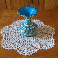 100% COTTON, CLASSIC ECRU TABLE MAT, CENTREPIECE or DOILY - 7-SIDED PATTERN 26cm