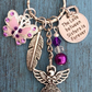 The Love between Sisters is Forever Butterfly Angel Keyring