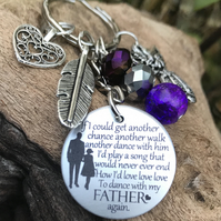 Dance With My Father Again Memorial Keyring Dad Angel