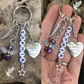 Personalised Rainbow Angel You Are Always In Amy Heart Keyring Memorial