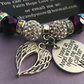 Purple Sparkly Shamballa Mum Memorial Angel Bracelet Keepsake
