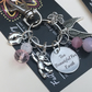 Pink Too Beautiful For Earth Keyring & Pendant Set Infant Loss Baby Girl
