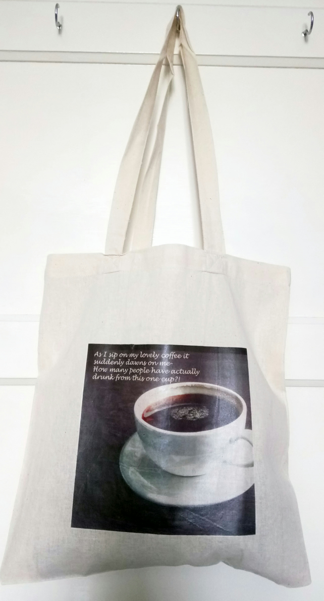 """Coffee Thoughts"" Tote Bag"