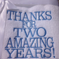 Personalised Embroidered  second Wedding Anniversary Hand Towels, Cotton Gift