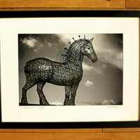Andy Scott's HEAVY HORSE, GLASGOW, framed print