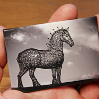 Andy Scott's HEAVY HORSE fridge magnet