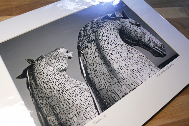 Andy Scott's KELPIES signed mounted print