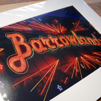 BARROWLANDS GLASGOW signed mounted print