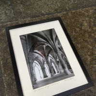 The Cloisters, Glasgow University SIGNED FRAMED PRINT