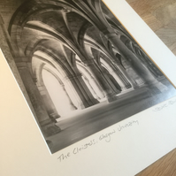 THE CLOISTERS, GLASGOW signed mounted print
