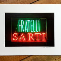 Sarti Glasgow, signed mounted print FREE DELIVERY