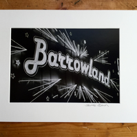 Barrowland (black and white edition) signed mounted print FREE DELIVERY