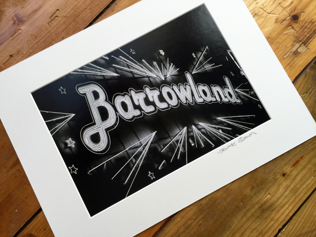 BARROWLAND (black and white edition) signed mounted print