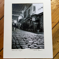 Ashton Lane, Glasgow  (black and white edition) Signed Mounted Print FREE DELIVE