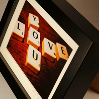 Love You SMALL FRAMED PRINT